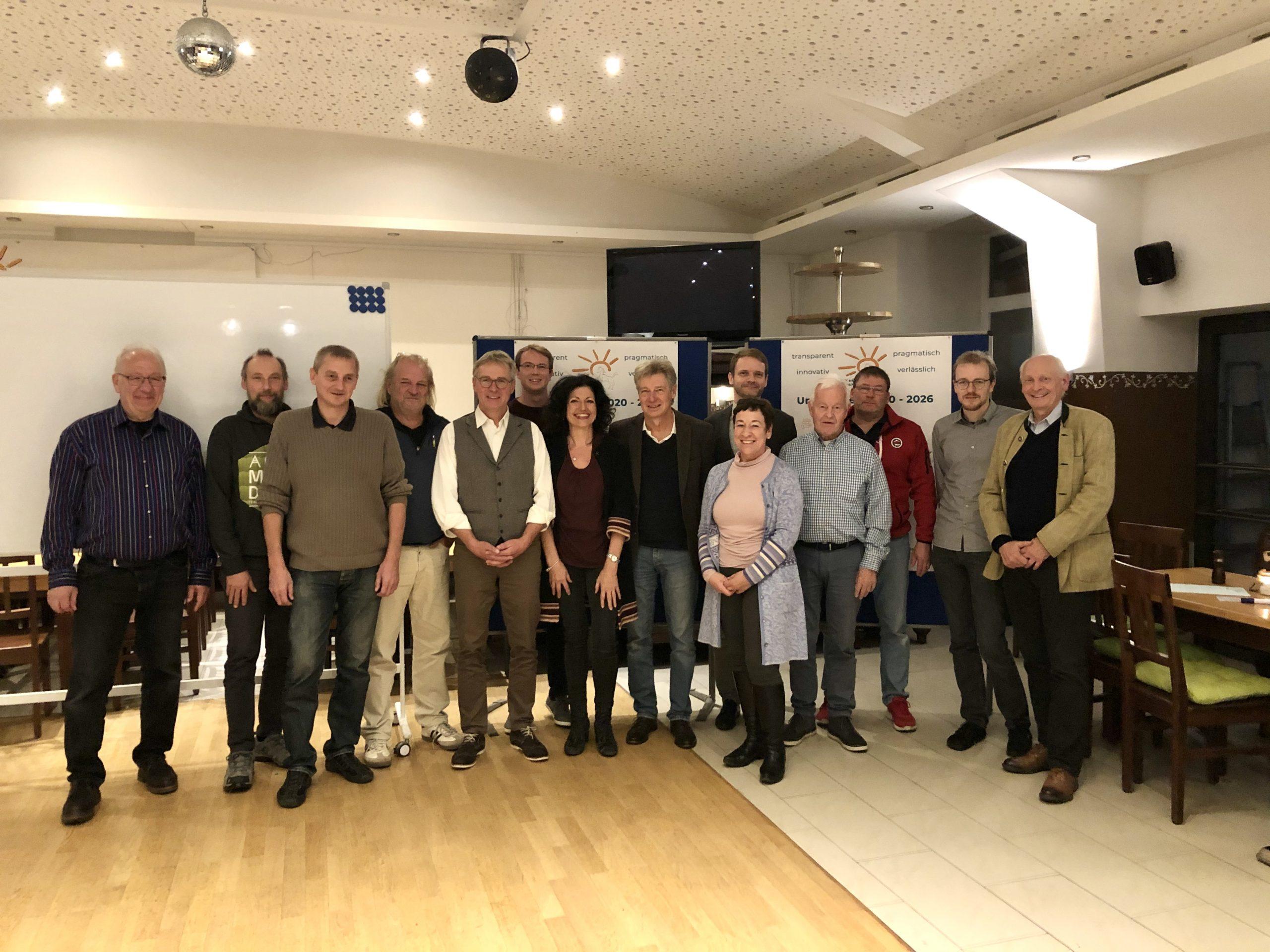 Aufstellung für die Kommunalwahl 2020 – Freie Wähler Windach nominieren Kandidaten